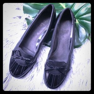 Life stride duck flat shoes black 8